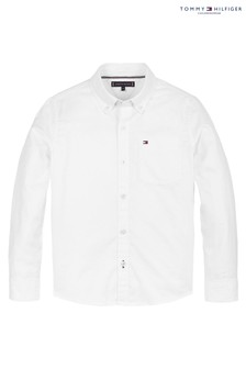 Tommy Hilfiger White Back Flag Stretch Oxford Shirt