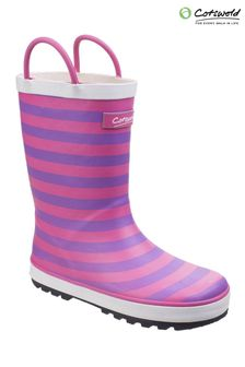Cotswold Pink Captain Stripy Wellies