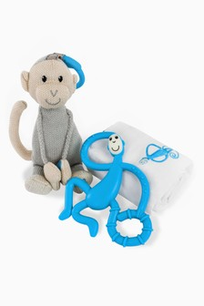 Matchstick Monkey Teething Gift Set - Blue