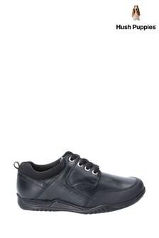 Hush Puppies Black Dexter Junior Lace-Up School Shoes