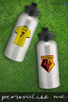Personalised Watford Water Bottle by Personalised Football Gifts