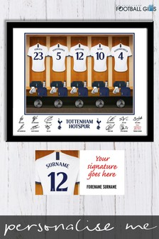 Personalised Tottenham Hotspurs Dressing Room Print by Personalised Football Gifts