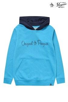 Original Penguin® Blue Contrast Hood Hoody