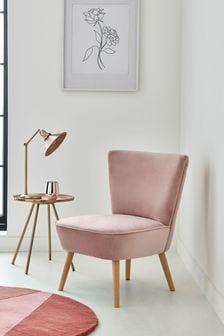 Opulent Velvet Blush Ella Chair