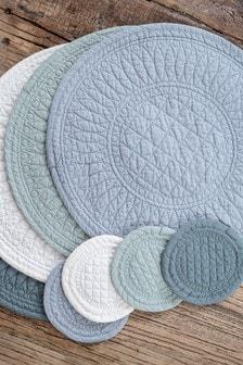 Set of 4 Mary Berry Signature Cotton Pistachio Coasters