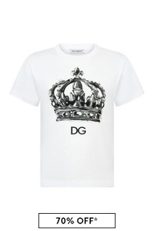 Dolce & Gabbana Kids Boys White Cotton T-Shirt