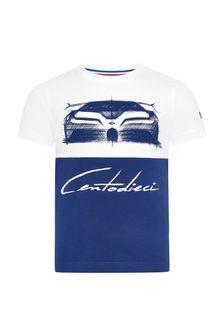 Bugatti Baby Blue Cotton T-Shirt