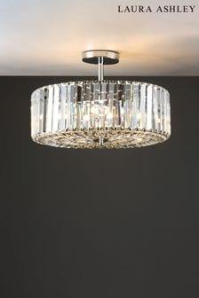 Laura Ashley Chrome Fernhurst 4 Light Art Deco Ceiling Light