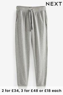 Grey Slim Cuffed Joggers Lightweight