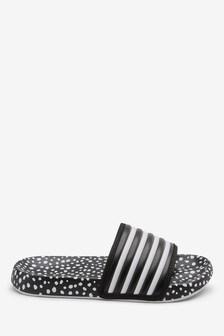 3e3281e6ecf8 Black White Stripe Sliders (Older) ...