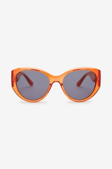 Orange Cat Eye Sunglasses