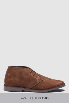 Brown   Wide Fit Suede Desert Boot