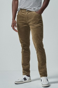 Sand Slim Fit Jean Style Cord Trousers
