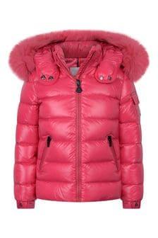 Girls Pink Down Padded Bady Jacket