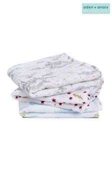 aden + anais Harry Potter™ Iconic Collection Cotton Muslin Musy Squares 3 Pack