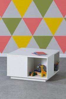 White Play Storage Table