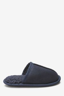 Navy Slip-On Mule Slippers (Older)