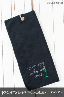 Personalised Microfibre Golf Towel by Solesmith