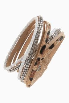 Animal Print Multi Layer Wrap Bracelet