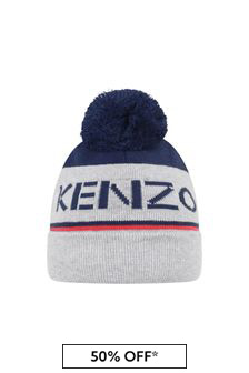 Boys Navy/Grey Bobble Hat