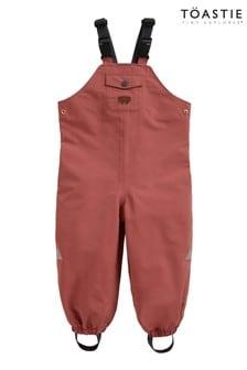 Töastie® Kids Rose Pink Waterproof Dungarees