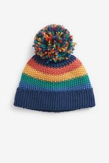 Multi Rainbow Stripe Hat (0mths-2yrs)