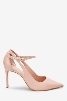 Nude Signature Leather Cut-Out Court Shoes