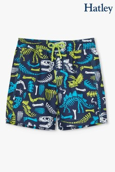 Hatley Blue Dino Fossils Swim Trunks