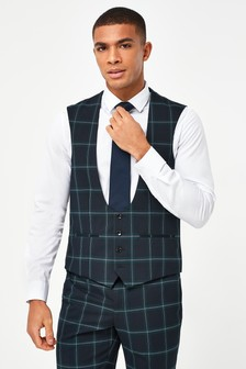 Green Check Suit: Waistcoat