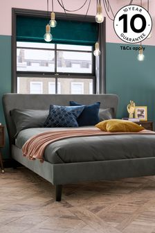 Opulent Velvet Steel Wilson Bed