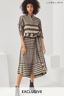 Mix/Teija Belted Shirt Dress