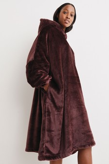 Chocolate Brown Snuggle Oversized Dressing Gown