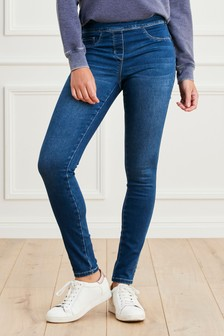 Dark Blue Super Stretch Soft Sculpt Pull-On Denim Leggings