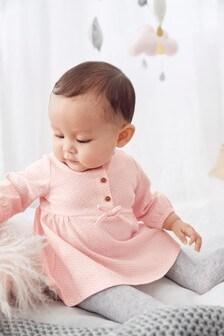Pink Geo Print Dress (0mths-3yrs)