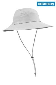 Decathlon Women's Grey Anti-UV Trek 500 56-58cm Forclaz Hat