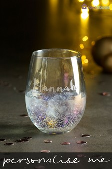 Personalised Iridescent Tumbler Glass by Loveabode