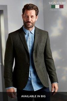 Khaki Slim Fit Nova Fides Signature Three Button Blazer