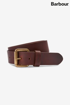 Barbour® Matt Brown Leather Belt