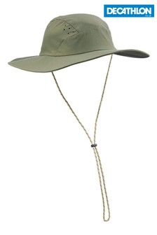 Decathlon Men's Khaki Anti-UV Trek 500 Forclaz Hat
