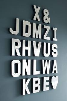 Mirrored Alphabet Letters