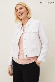 Phase Eight White Caitlin Denim Jacket