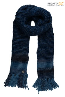 Regatta Blue Frosty IV Fringed Scarf