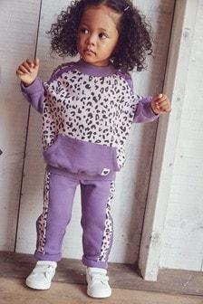 Purple Sporty Animal Co-Ord Set (3mths-7yrs)