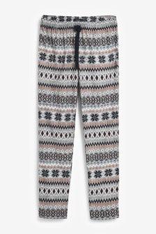 Fairisle Pattern Cosy Pyjama Bottoms