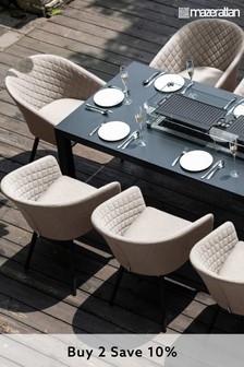 Ambition 8 Seat Rectangle Fire Pit Dining Set By Maze Rattan
