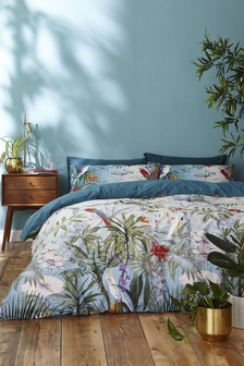 Accessorize Paradise Tropical Floral Cotton Duvet Cover And Pillowcase Set