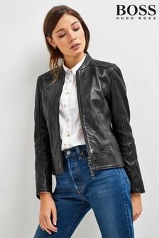 BOSS Black Sameggy Leather Jacket