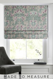 Aubrey Mirror Floral Natural Made To Measure Roman Blind