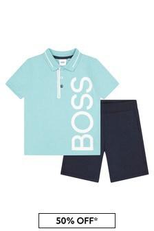 Boss Kidswear BOSS Baby Boys Blue T-Shirt