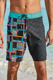 Black/Pink Maui Reversible Stretch Boardshorts